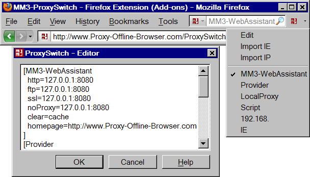 MM3-ProxySwitch - Firefox Extension (extensions)