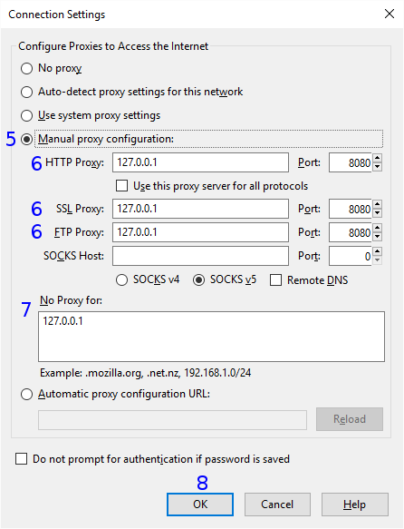 Firefox: Connection Settings