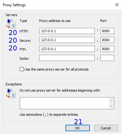 Internet Explorer: Dial-up Proxy Settings