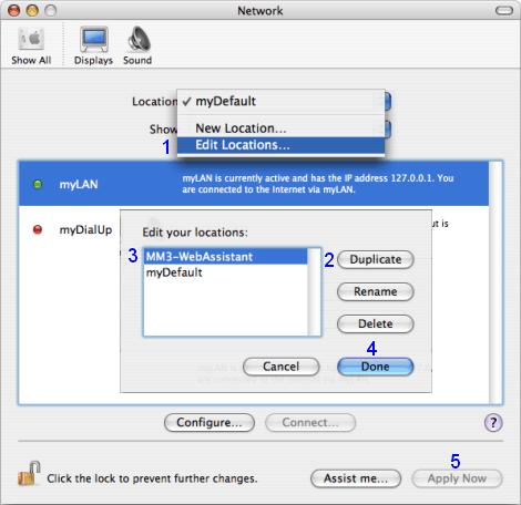 Mac OS X: Network / Location