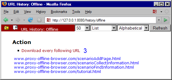 MM3-WebAssistant: URL History: Offline