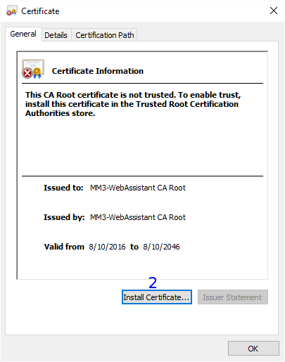 Windows: Certificate