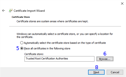 Windows: Certificate Store